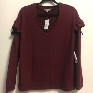 Almost famous  burgundy super soft brushed sweater